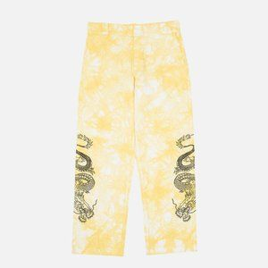 CLOT x Dickies DRAGON TIE DYE CHINO (YELLOW)